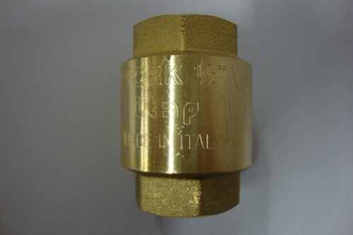"Kontraventil 1/2"" messing"
